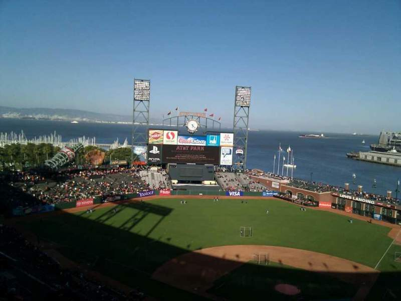 Seating view for AT&T Park Section 319 Row 15 Seat 6