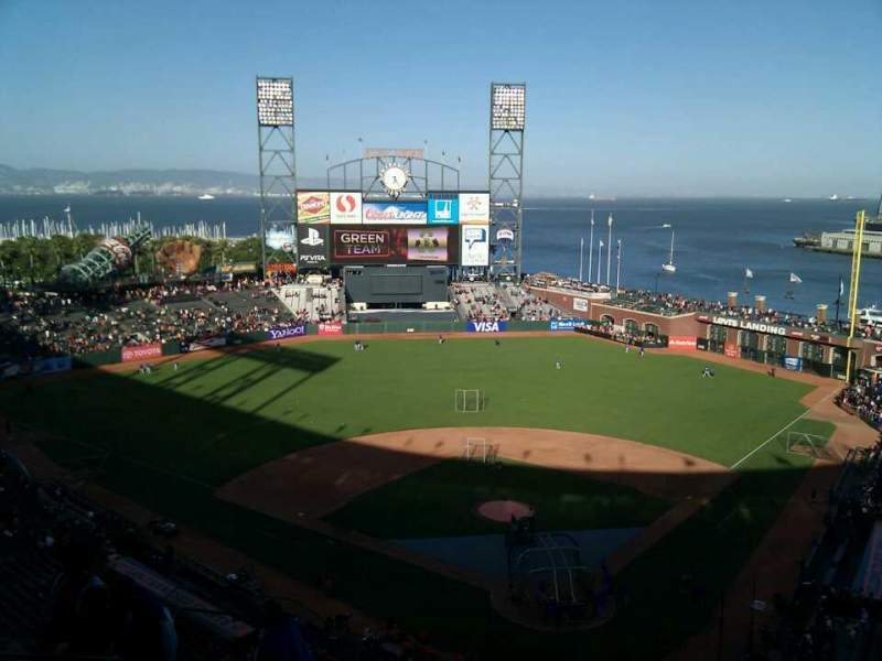 Seating view for AT&T Park Section 317 Row 8 Seat 20