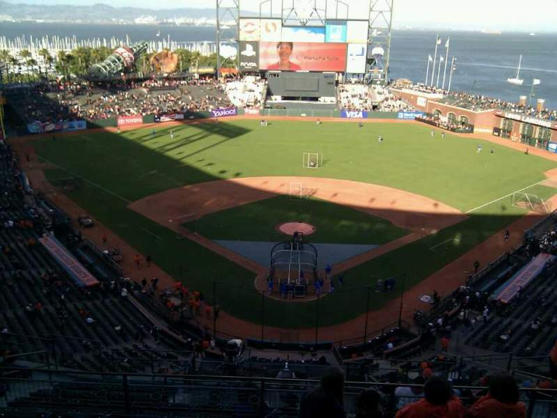 Seating view for AT&T Park Section 315 Row 5 Seat 10