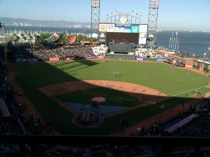Seating view for AT&T Park Section 314 Row 2 Seat 11
