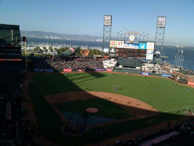 Seating view for AT&T Park Section 313 Row 6 Seat 10