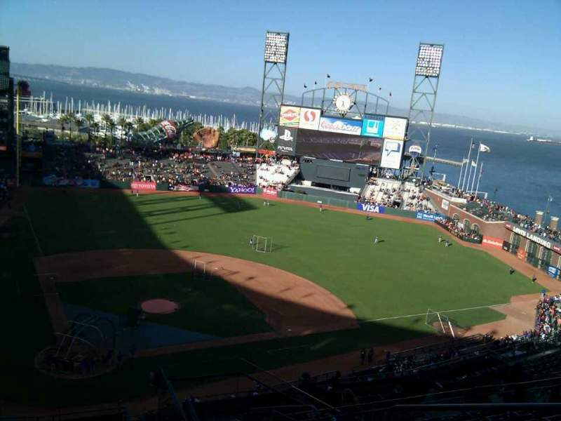 Seating view for AT&T Park Section 312 Row 8 Seat 4