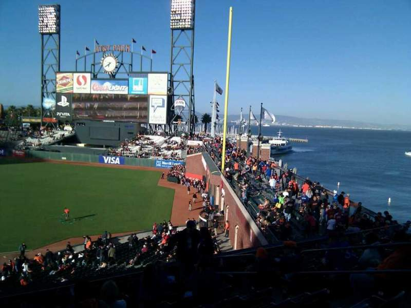 Seating view for AT&T Park Section 203 Row i Seat 7