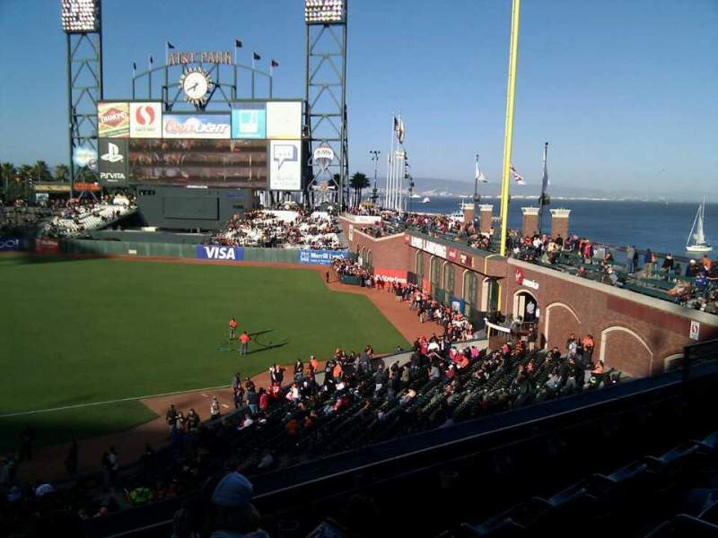 Seating view for AT&T Park Section 204 Row d Seat 11