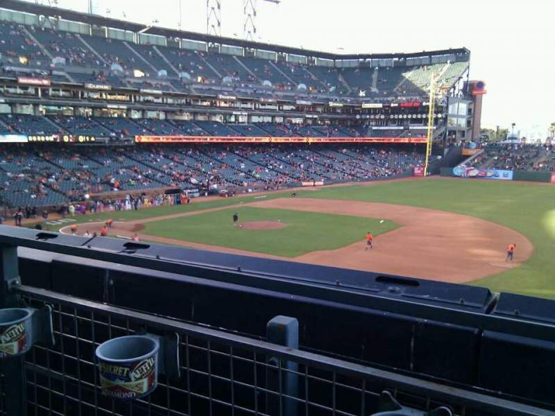 Seating view for AT&T Park Section 205 Row a Seat 5