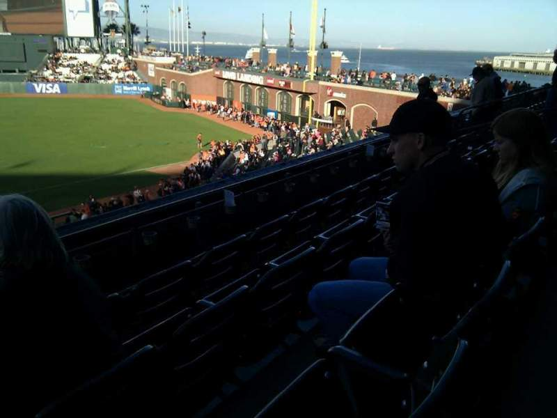 Seating view for AT&T Park Section 207 Row d Seat 16