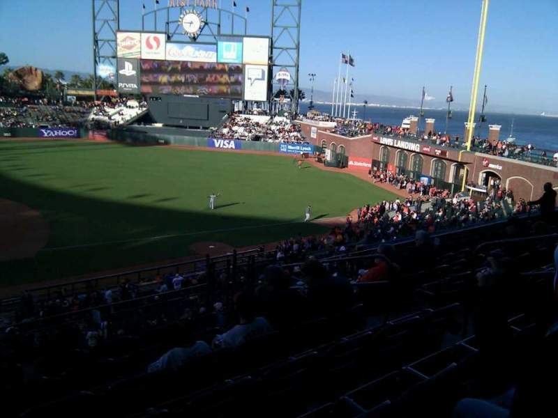 Seating view for AT&T Park Section 208 Row g Seat 8
