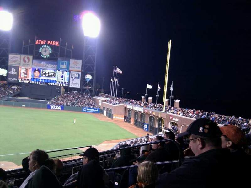 Seating view for AT&T Park Section 207 Row e Seat 5