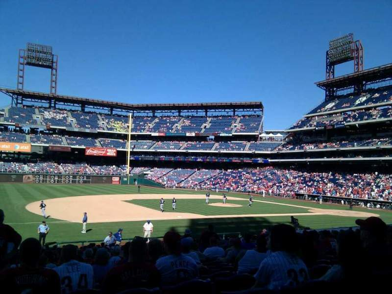 Seating view for Citizens Bank Park Section 133 Row 27 Seat 12
