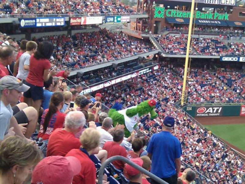 Seating view for Citizens Bank Park Section 325 Row 7 Seat 18