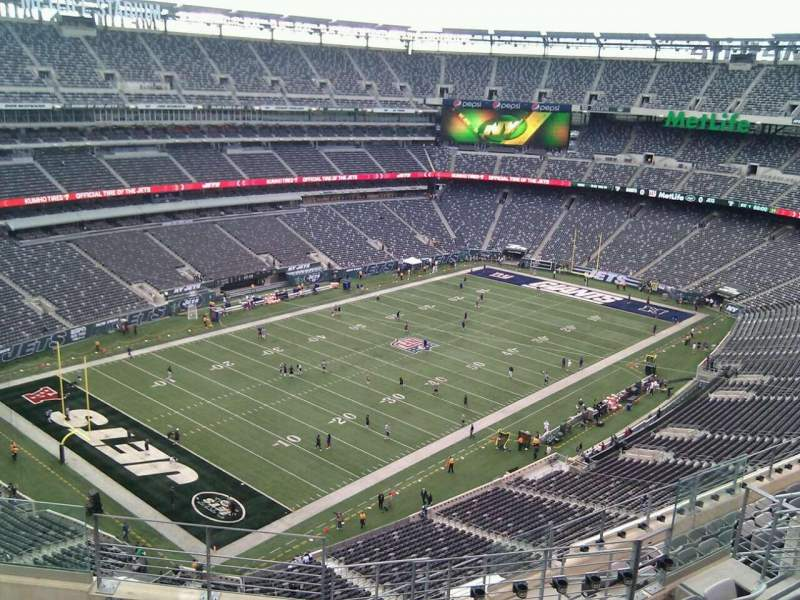 Seating view for MetLife Stadium Section 320 Row 11 Seat 10