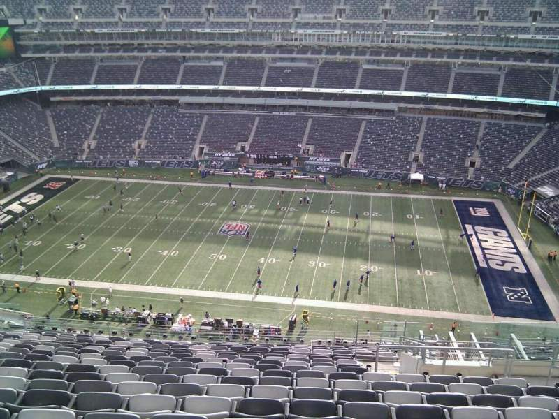 Seating view for MetLife Stadium Section 312 Row 20 Seat 7