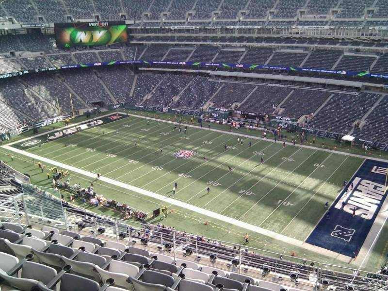 Seating view for MetLife Stadium Section 309 Row 11 Seat 9