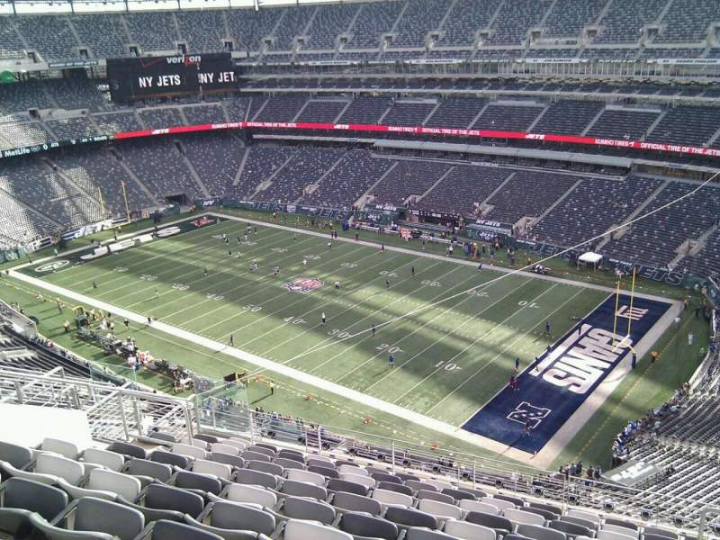 Seating view for MetLife Stadium Section 308 Row 15 Seat 6