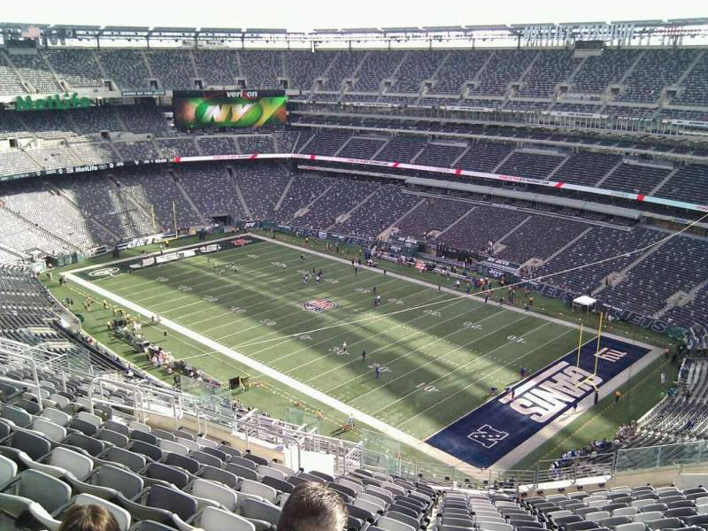 Seating view for MetLife Stadium Section 307 Row 21 Seat 19