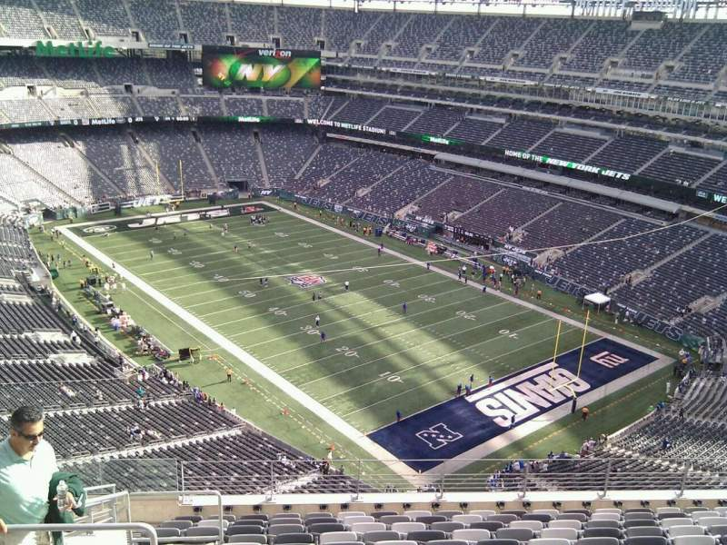 Seating view for MetLife Stadium Section 306 Row 16 Seat 20