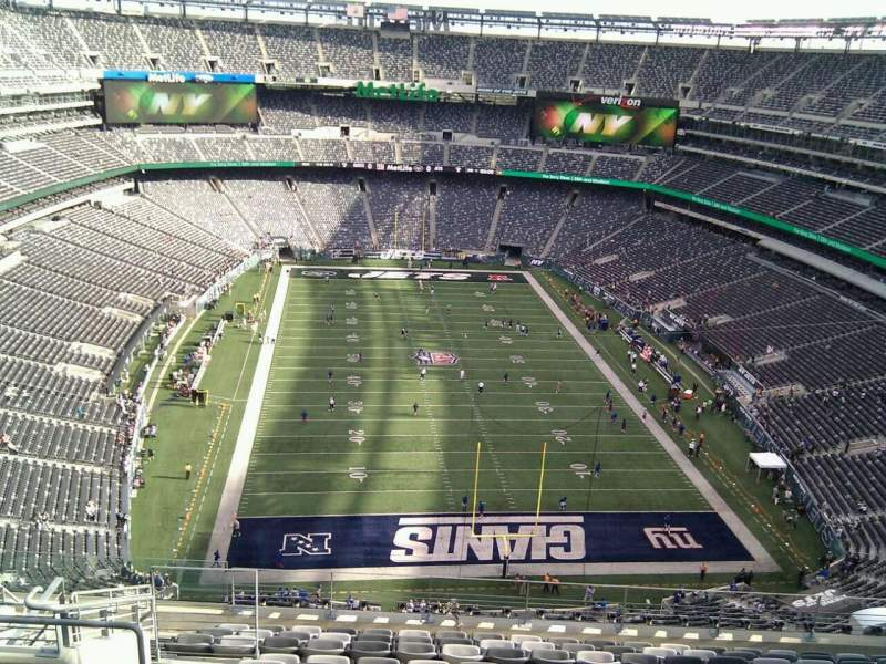 Seating view for MetLife Stadium Section 302 Row 17 Seat 19