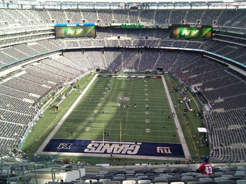 Seating view for MetLife Stadium Section 301 Row 20 Seat 23