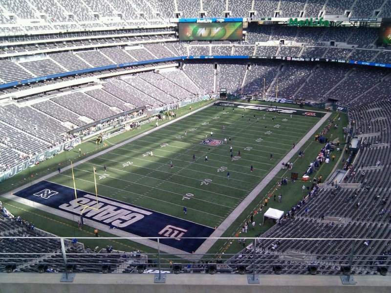 Seating view for MetLife Stadium Section 347 Row 10 Seat 8