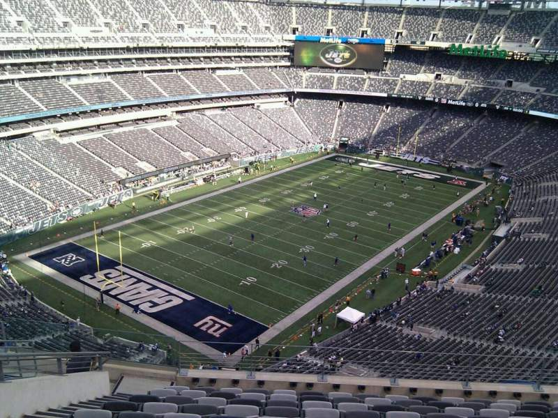Seating view for MetLife Stadium Section 346 Row 15 Seat 20