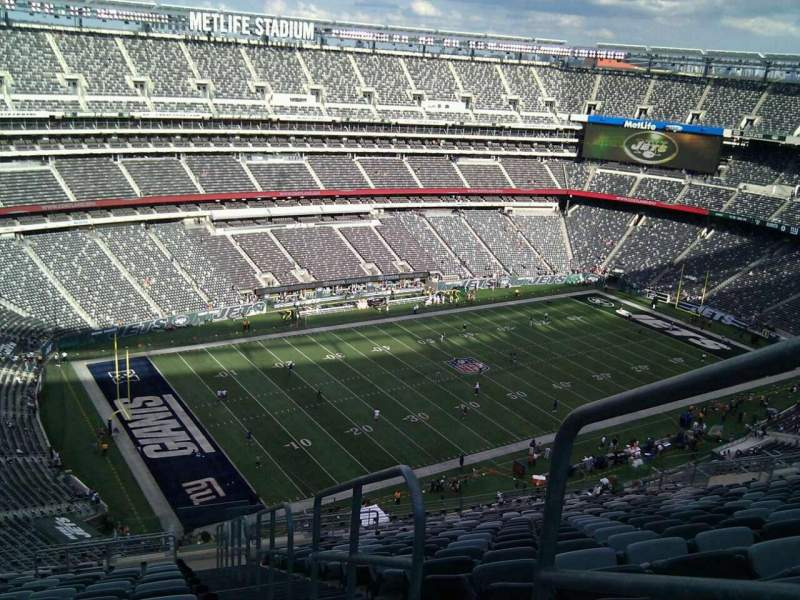Seating view for MetLife Stadium Section 344 Row 25 Seat 1