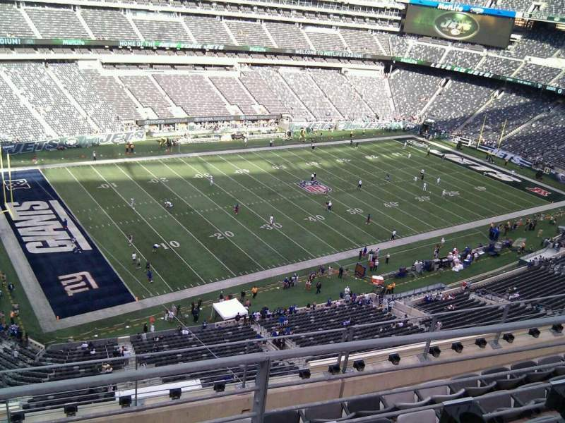 Seating view for MetLife Stadium Section 343 Row 6 Seat 18