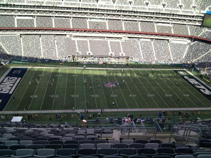 Seating view for MetLife Stadium Section 340 Row 19 Seat 6