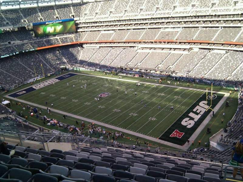 Seating view for MetLife Stadium Section 333 Row 18 Seat 5