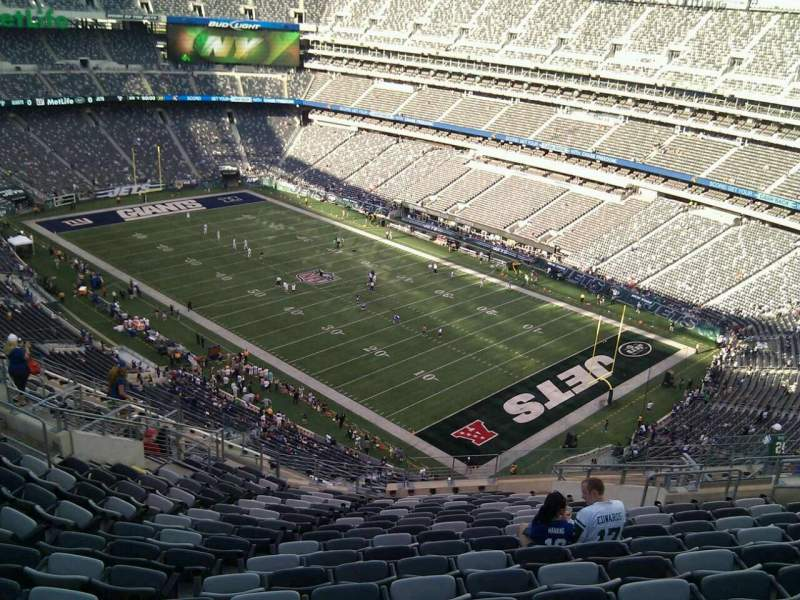 Seating view for MetLife Stadium Section 332 Row 21 Seat 13