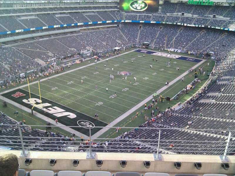 Seating view for MetLife Stadium Section 321 Row 9 Seat 11