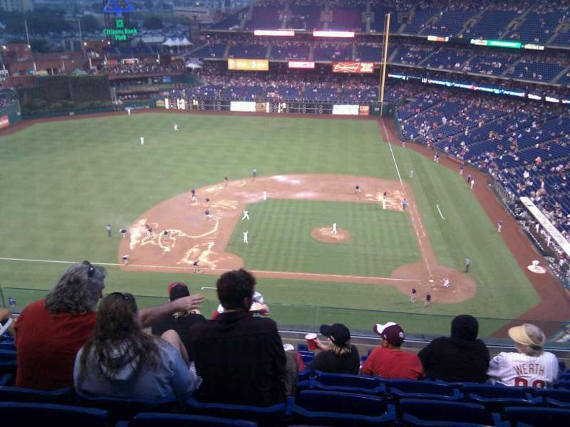 Seating view for Citizens Bank Park Section 425 Row 8 Seat 15