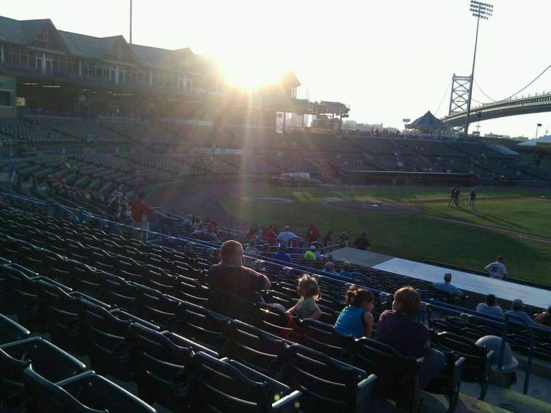 Seating view for Campbell's Field Section 203 Row u Seat 17