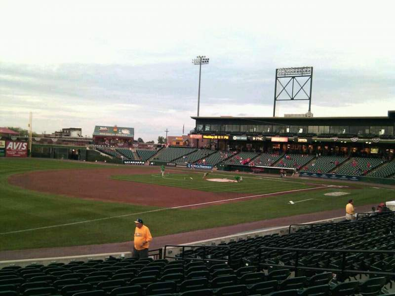 Seating view for Clipper Magazine Stadium Section 26 Row o Seat 11