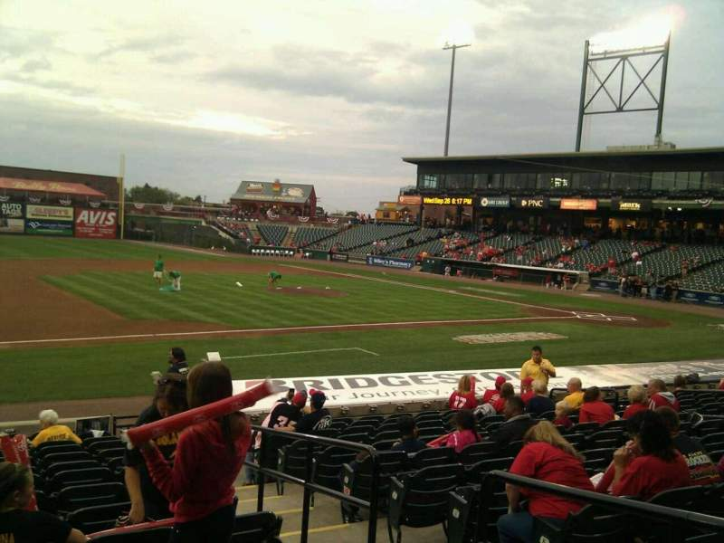 Seating view for Clipper Magazine Stadium Section 23 Row o Seat 3