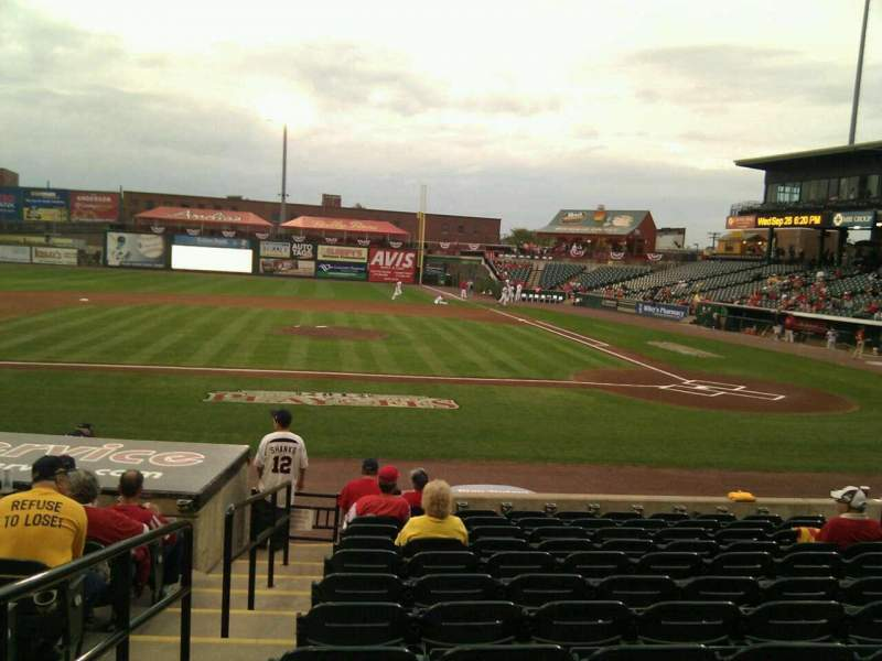 Seating view for Clipper Magazine Stadium Section 19 Row l Seat 12
