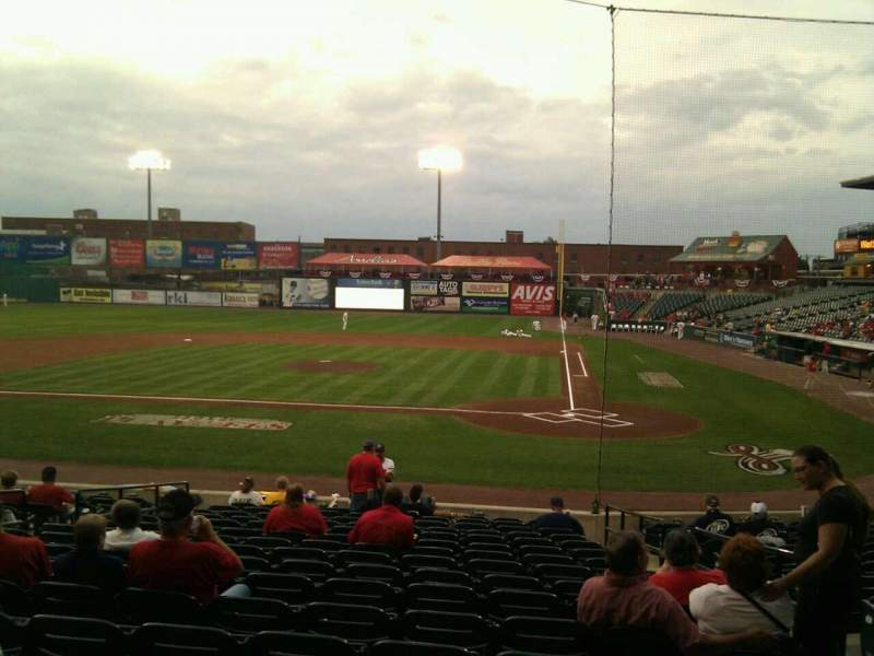 Seating view for Clipper Magazine Stadium Section 18 Row g Seat 4
