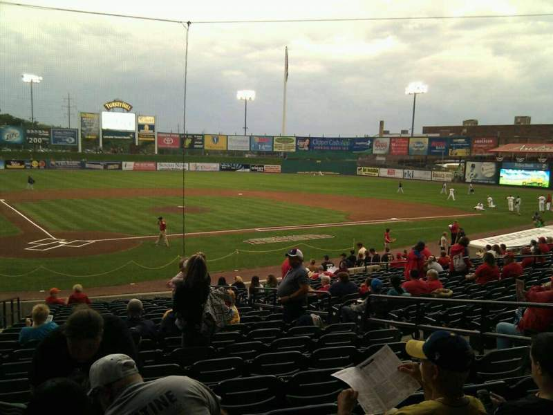 Seating view for Clipper Magazine Stadium Section 12 Row t Seat 8