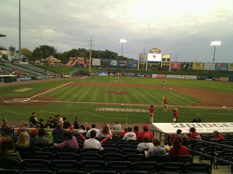 Seating view for Clipper Magazine Stadium Section 10 Row p Seat 5