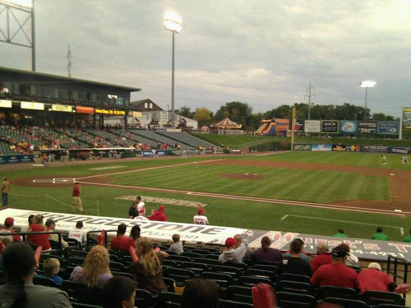 Seating view for Clipper Magazine Stadium Section 8 Row o Seat 3
