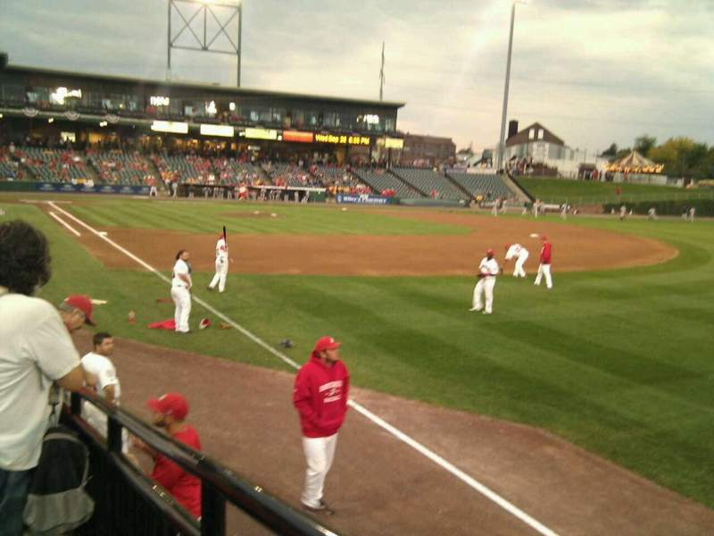 Seating view for Clipper Magazine Stadium Section 1 Row i Seat 1
