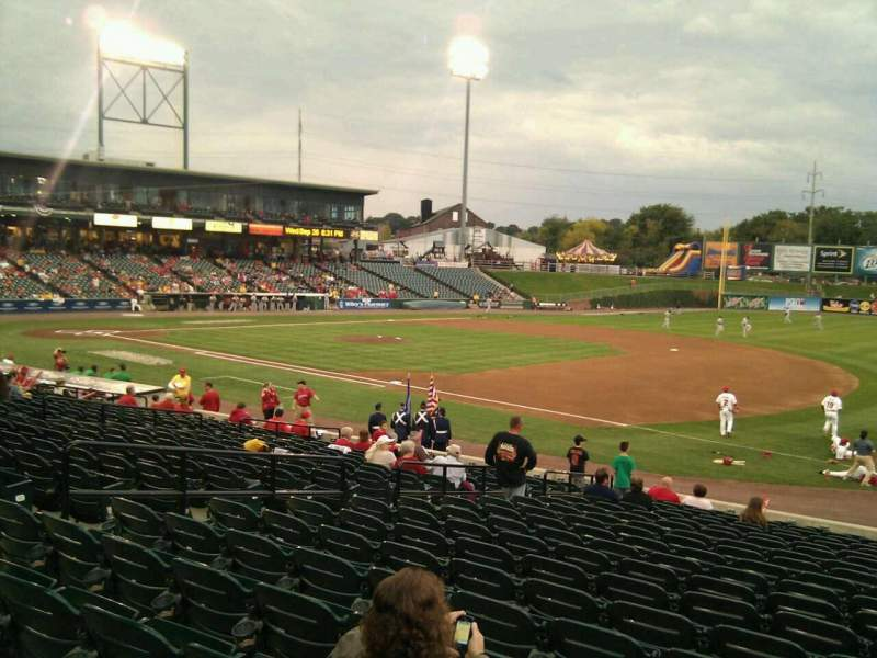 Seating view for Clipper Magazine Stadium Section 4 Row t Seat 12