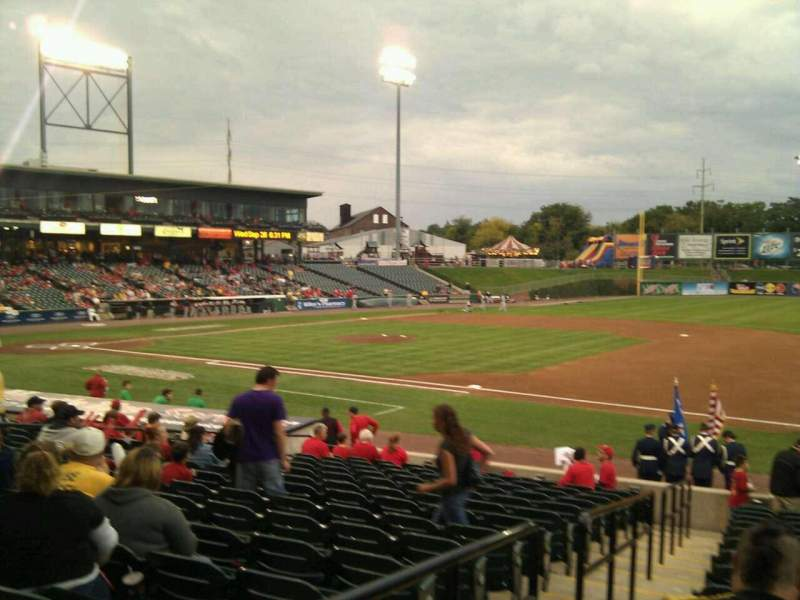 Seating view for Clipper Magazine Stadium Section 5 Row p Seat 10