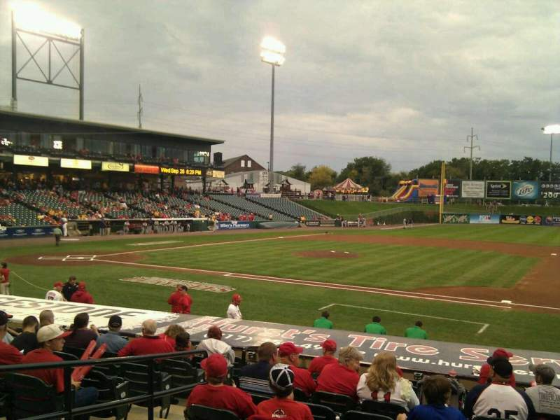Seating view for Clipper Magazine Stadium Section 7 Row m Seat 6