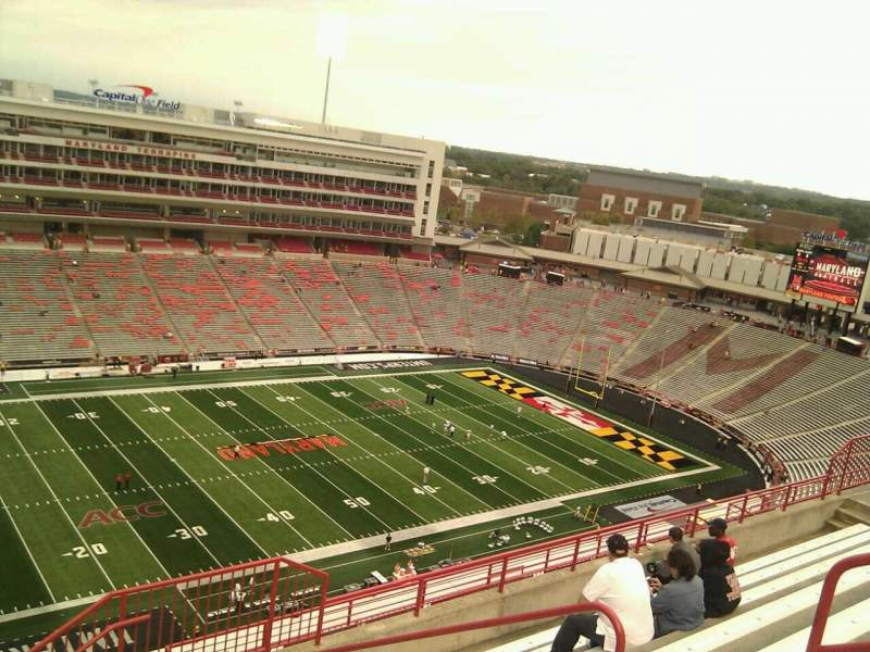 Seating view for Maryland Stadium Section 302 Row o Seat 19