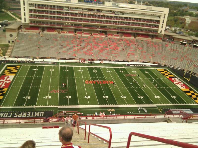 Seating view for Maryland Stadium Section 304 Row bb Seat 24