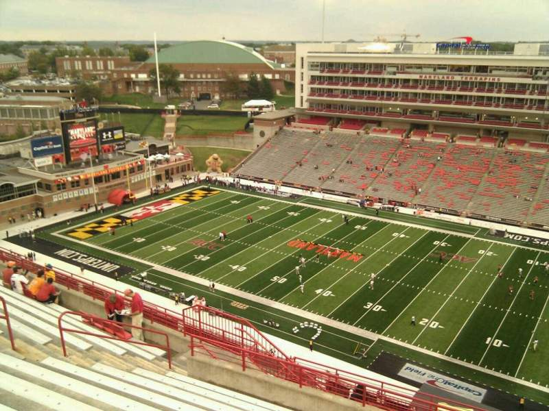 Seating view for Maryland Stadium Section 310 Row s Seat 15
