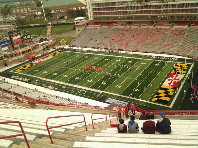 Seating view for Maryland Stadium Section 312 Row cc Seat 5