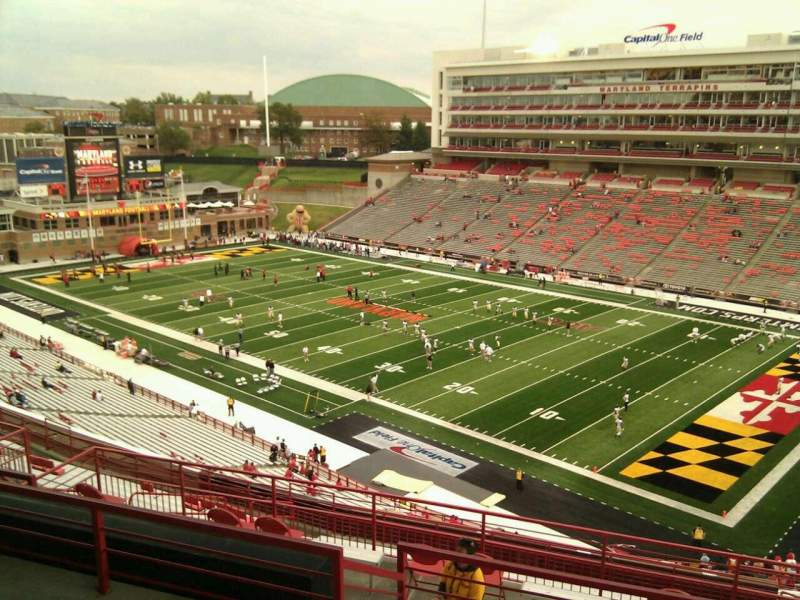 Seating view for Maryland Stadium Section 212 Row p Seat 18