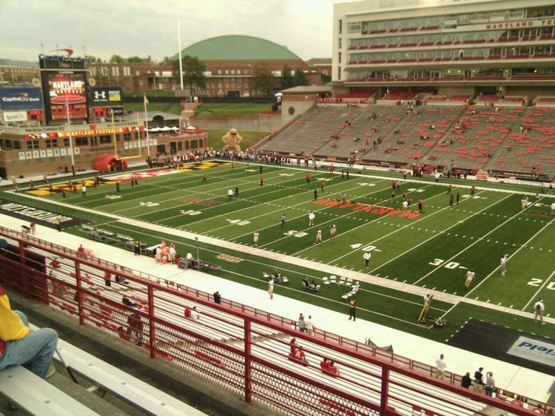 Seating view for Maryland Stadium Section 209 Row d Seat 17