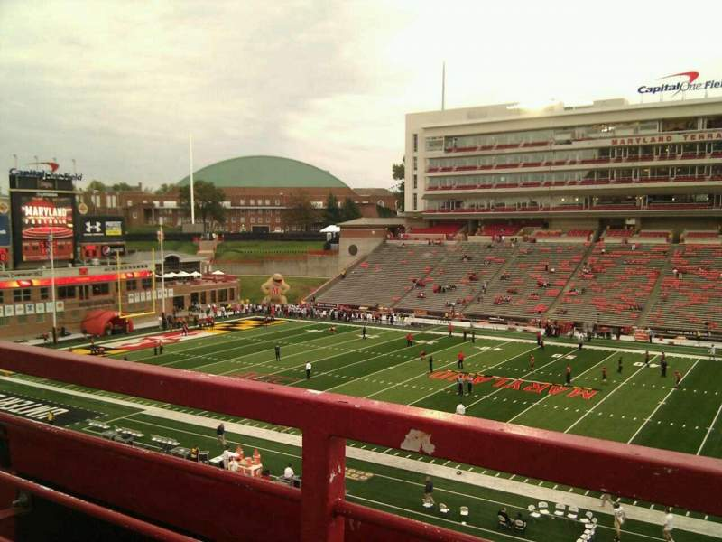 Seating view for Maryland Stadium Section 207 Row a Seat 17